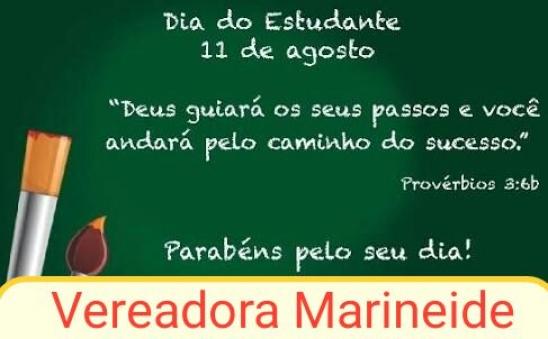 Vereadora Marineide faz homenagem ao