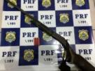 PRF FLAGRA CONDUTOR COM ARMA DE FOGO E MUNIÇÕES