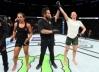 Aldana castiga Talita Bernardo na luta em pé e vence pela primeira vez no UFC