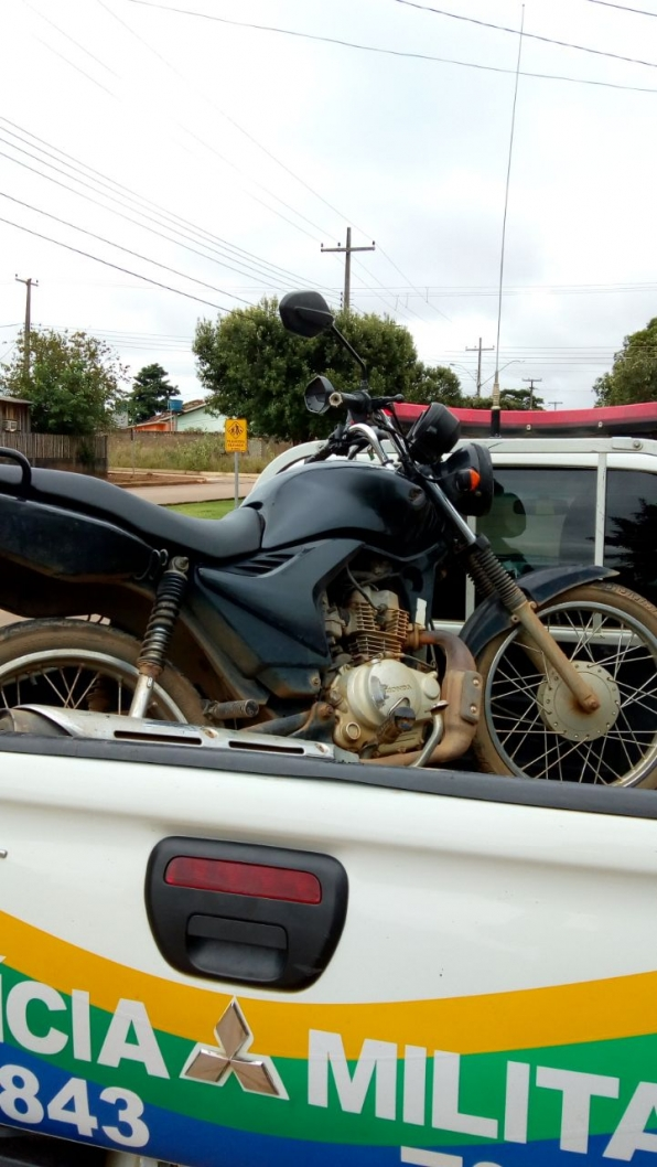 Ariquemes: Patrulha Charlie do 7° BPM recupera moto