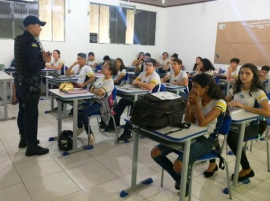 """Patrulha Escolar do 7º BPM idealiza projeto """"Escola Mais Segura"""""""