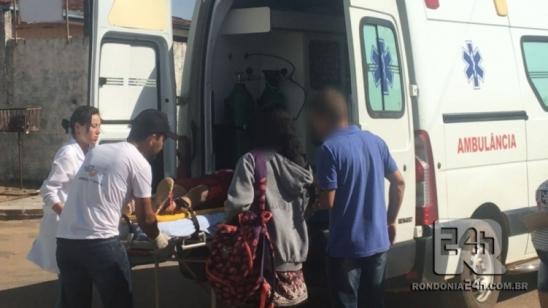 Monte Negro: Acidente de transito em cruzamento deixa uma mulher ferida