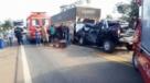 MILAGRE - Casal fica preso as ferragem após engavetamento de veículos na BR 364
