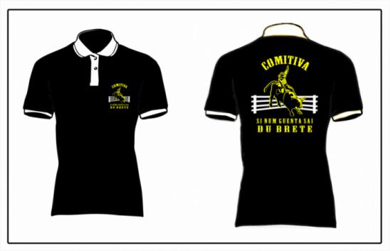 OPEM BAR: Adquira já a sua camisetas da comitiva SI NUM GUENTA SAI DU BRETE!, em Monte Negro