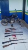 Força Tática de Monte Negro apreende armamento e recupera motocicleta roubada