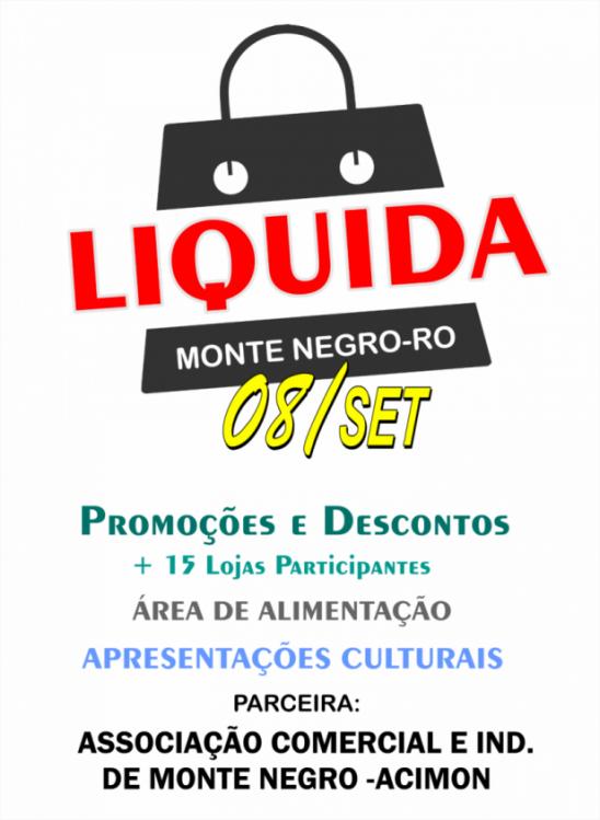 Promoção Liquida Monte Negro acontece no dia 8 de setembro na Praça Municipal
