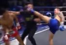 Atleta nocauteia rival e árbitro ao mesmo tempo em lance inusitado