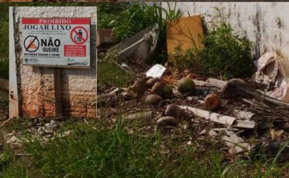 """SEMA instala """"Placa de Advertência"""" próximo a escola pública de Monte Negro, em RO"""