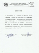 Monte Negro: Audiência Pública referente ao 3º Quadrimestre de 2018 acontece na Escola Aurélio