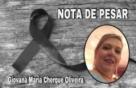 NOTA DE PESAR AO FALECIMENTO DE GIOVANA CHERQUE - Prefeito Evandro Marques