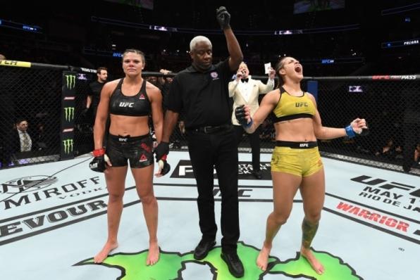 Poliana Botelho estreia no peso-mosca derrotando Lauren Mueller por decisão unânime no UFC 236