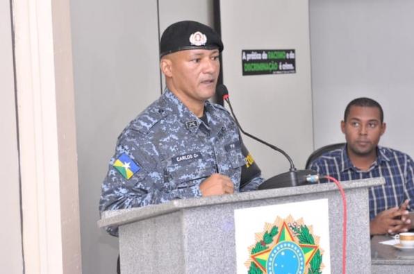Sargento Carlos é homenageado na Câmara Municipal de Monte Negro, em RO