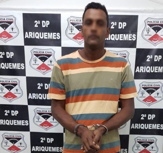 Suspeito de assassinato é preso pela Delegacia de Homicídios de Ariquemes, em RO