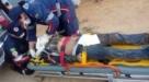 Homem fica gravemente ferido após cair de moto na RO-133, em Machadinho D'Oeste