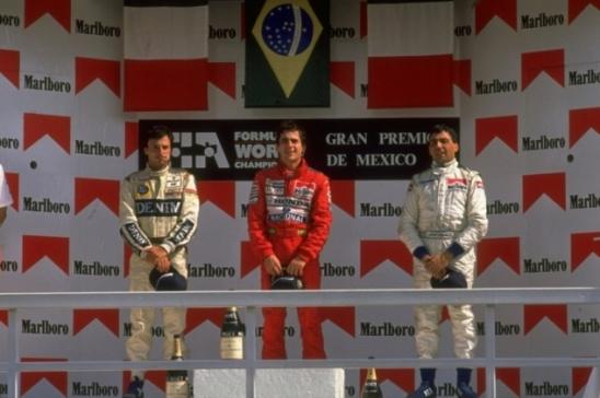 O épico dia em que Ayrton Senna venceu no México após Emerson Fittipaldi ganhar em Indianápolis