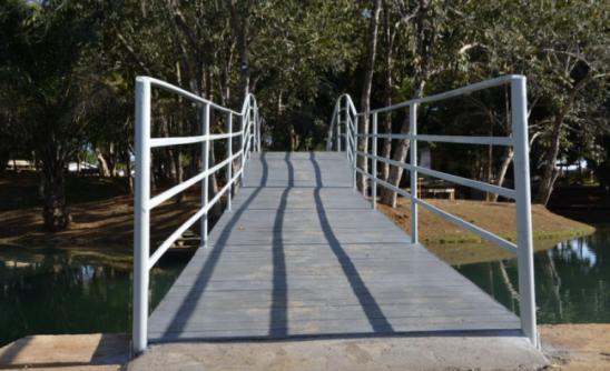 SEMOSP: Entrega nova ponte sobre o Lago do Parque Botânico em Ariquemes, RO