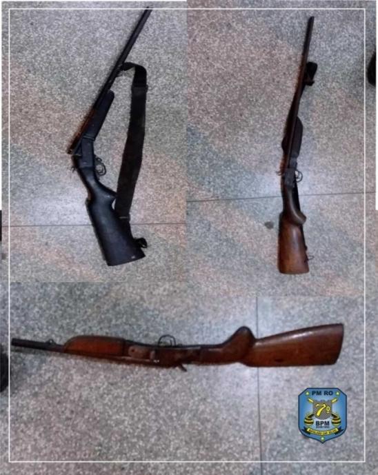 Após denúncias PM apreende três armas de fogo na área rural de Ariquemes