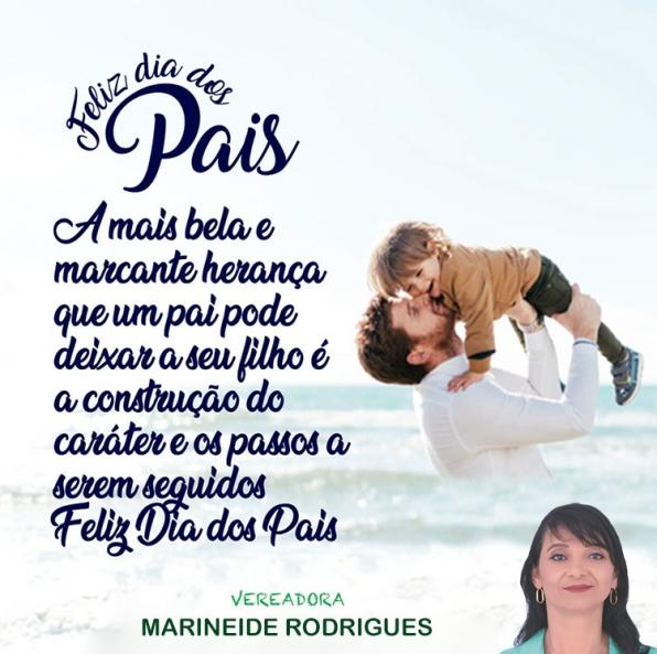 Mensagem da vereadora Marineide Rodrigues - Dia dos Pais