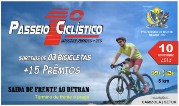 Prefeitura organiza o 1º Passeio Ciclístico de Monte Negro, RO