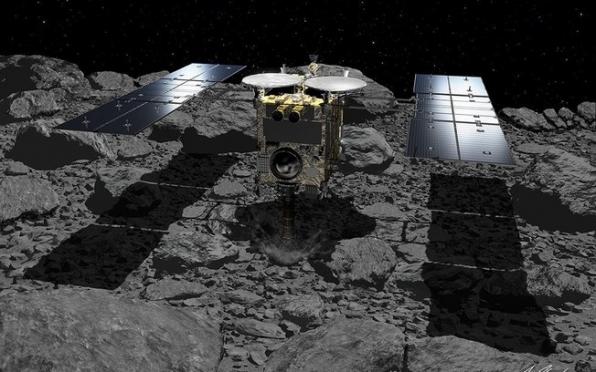Sonda japonesa Hayabusa2 parte de asteroide em direção à Terra