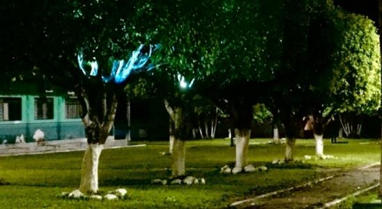 Refletores são furtados da praça da prefeitura de Monte Negro, em RO