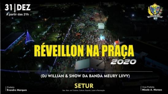 Prefeitura de Monte Negro convida para o Réveillon na Praça, em RO