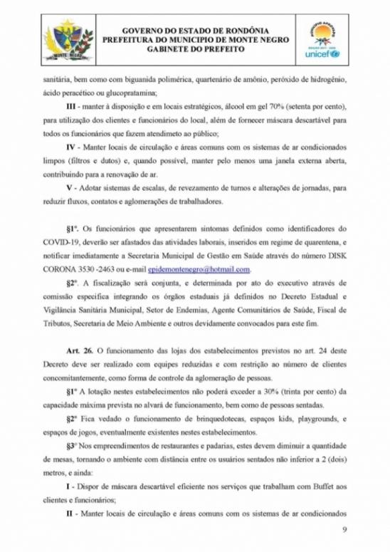 Câmara aprova e prefeito sanciona Decreto de Calamidade Pública em Monte Negro, RO