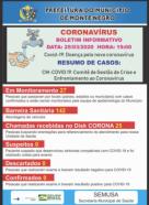 ZERO: Semusa divulga boletim informativo sobre o CORONAVíRUS, em Monte Negro
