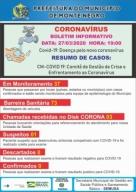 CORONAVíRUS: Veja os dados do boletim CM-COVID 19 de sexta (27), em Monte Negro