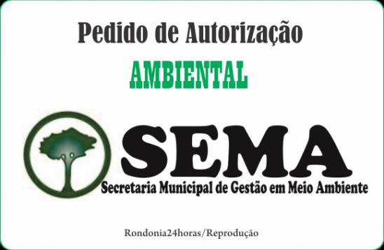 FARMACIA AVENIDA: Pedido de Autorização Ambiental à SEMA, em Monte Negro