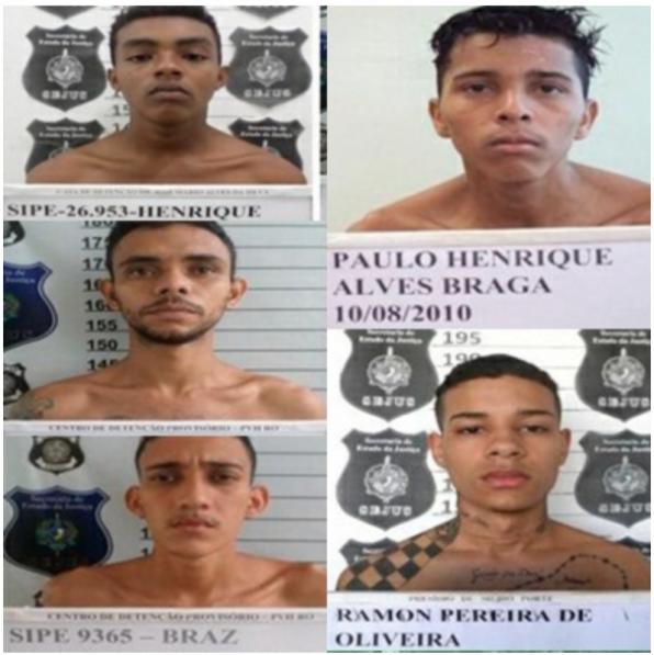 PORTO VELHO – Identificados bandidos de alta periculosidade que fugiram de presídio