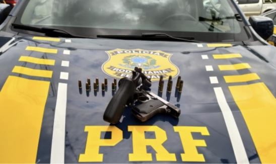 Porto Velho -  PRF apreende duas armas de fogo