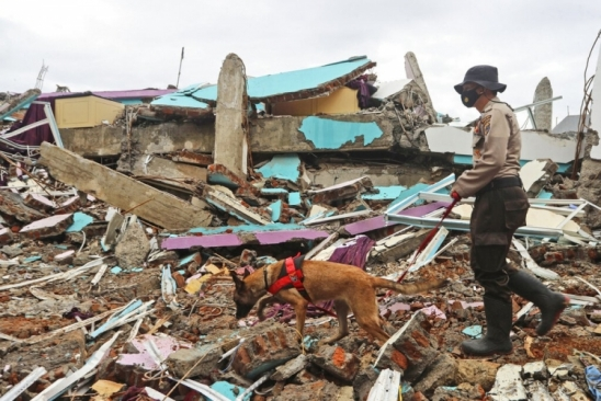 Chuvas torrenciais dificultam busca por sobreviventes do terremoto na Indonésia
